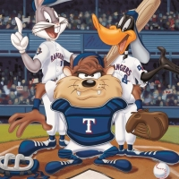 """""""At the Plate (Rangers)"""" Limited Edition 16x20 Giclee from Warner Bros. at PristineAuction.com"""