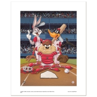 """At the Plate (Reds)"" Limited Edition 16x20 Giclee from Warner Bros."