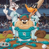 """""""At the Plate (Marlins)"""" Limited Edition 16x20 Giclee from Warner Bros. at PristineAuction.com"""