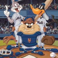 """""""At the Plate (Mets)"""" Limited Edition 16x20 Giclee from Warner Bros. at PristineAuction.com"""