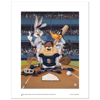 """At the Plate (Padres)"" Limited Edition 16x20 Giclee from Warner Bros. at PristineAuction.com"