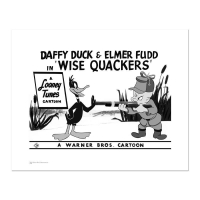 """Wise Quackers - Gun"" Limited Edition 16x20 Giclee from Warner Bros. at PristineAuction.com"