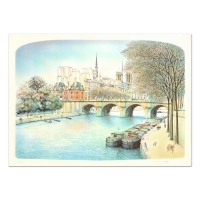"""Rolf Rafflewski Signed """"Seine II"""" Limited Edition 21x29 Lithograph at PristineAuction.com"""