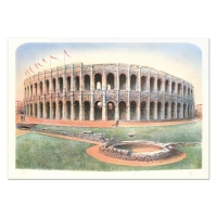 """Rolf Rafflewski Signed """"Nimes"""" Limited Edition 21x29 Lithograph at PristineAuction.com"""