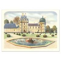 """Rolf Rafflewski Signed """"Chateau"""" Limited Edition 21x29 Lithograph at PristineAuction.com"""