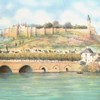 """Rolf Rafflewski Signed """"Seine"""" Limited Edition 21x29 Lithograph at PristineAuction.com"""