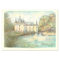 """Rolf Rafflewski Signed """"Chateau II"""" Limited Edition 21x29 Lithograph at PristineAuction.com"""