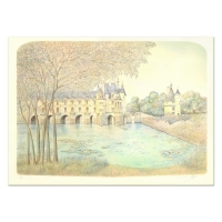"""Rolf Rafflewski Signed """"Chateau VI"""" Limited Edition 21x29 Lithograph at PristineAuction.com"""
