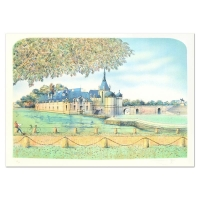 """Rolf Rafflewski Signed """"Chateau IV"""" Limited Edition 21x29 Lithograph at PristineAuction.com"""