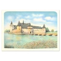 """Rolf Rafflewski Signed """"Chateau"""" Limited Edition 21x29 Lithograph"""
