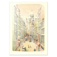 "Rolf Rafflewski Signed ""Paris II"" Limited Edition 22x30 Lithograph at PristineAuction.com"