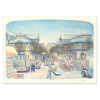 "Rolf Rafflewski Signed ""Les Halles"" Limited Edition 21x29 Lithograph at PristineAuction.com"