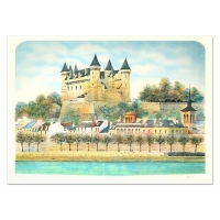 "Rolf Rafflewski Signed ""Chateau III"" Limited Edition 21x29 Lithograph at PristineAuction.com"