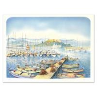 """Rolf Rafflewski Signed """"Docks"""" Limited Edition 22x30 Lithograph"""