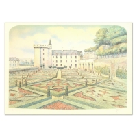 """Rolf Rafflewski Signed """"Chateau V"""" Limited Edition 21x29 Lithograph at PristineAuction.com"""