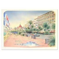 """Rolf Rafflewski Signed """"Nice"""" Limited Edition 21x29 Lithograph at PristineAuction.com"""