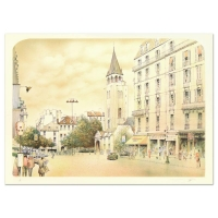 "Rolf Rafflewski Signed ""Paris"" Limited Edition 21x29 Lithograph at PristineAuction.com"