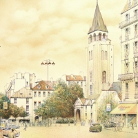 """Rolf Rafflewski Signed """"Paris"""" Limited Edition 21x29 Lithograph at PristineAuction.com"""