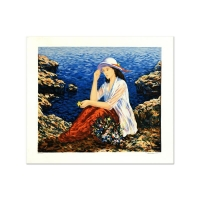 """Igor Semeko Signed """"Lady by the Cliffside"""" Limited Edition 16x19 Serigraph at PristineAuction.com"""