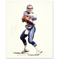 "Daniel M. Smith & Troy Aikman Signed ""Troy Aikman"" Limited Edition 11x13 Lithograph"