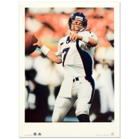 "Daniel M. Smith Signed ""John Elway"" Limited Edition 16x22 Lithograph"