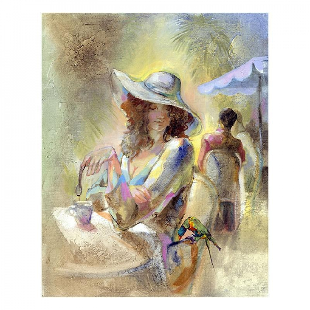 """Lena Sotskova Signed """"Miss Sunchine"""" Artist Embellished Limited Edition 14x18 Giclee on Canvas at PristineAuction.com"""