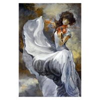 "Lena Sotskova Signed ""Moonlight"" Artist Embellished Limited Edition 26x40 Giclee on Canvas"