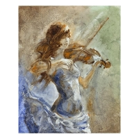 "Lena Sotskova Signed ""Enchanted"" Artist Embellished Limited Edition 14x18 Giclee on Canvas"