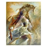 "Lena Sotskova Signed ""Free Spirit 2"" Artist Embellished Limited Edition 14x18 Giclee on Canvas"