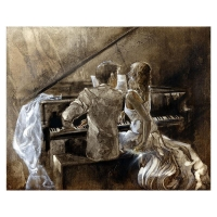 """Lena Sotskova Signed """"Just Married"""" Artist Embellished Limited Edition 14x18 Giclee on Canvas (PA LOA) at PristineAuction.com"""
