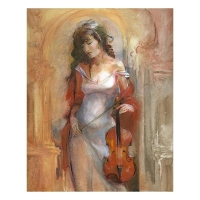"Lena Sotskova Signed ""Modern Classic"" Artist Embellished Limited Edition 14x18 Giclee on Canvas"