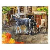 "Lena Sotskova Signed ""Town in Bloom"" Artist Embellished Limited Edition 14x18 Giclee on Canvas at PristineAuction.com"