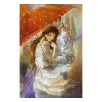 "Lena Sotskova Signed ""Cherish"" Artist Embellished Limited Edition 26x40 Giclee on Canvas"