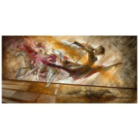 "Lena Sotskova Signed ""Force of Nature"" Artist Embellished Limited Edition 20x40 Giclee on Canvas"