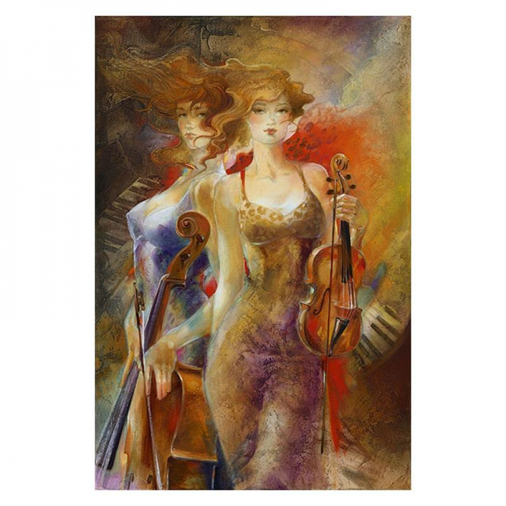 "Lena Sotskova Signed ""Stars"" Artist Embellished Limited Edition 26x40 Giclee on Canvas at PristineAuction.com"