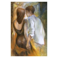 "Lena Sotskova Signed ""The Date"" Artist Embellished Limited Edition 26x40 Giclee on Canvas"