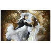 "Lena Sotskova Signed ""Together Forever"" Artist Embellished Limited Edition 24x40 Giclee on Canvas at PristineAuction.com"