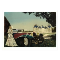 """Robert Vernet Bonfort Signed """"The Car"""" Limited Edition 21x29 Lithograph at PristineAuction.com"""