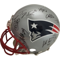 2016 Patriots Super Bowl 51 Champions LE Full Size Authentic Pro-Line Helmet Team-Signed by (30) with Tom Brady, Dont'a Hightower, James White, Devin Mccourty, Chris Hogan (Steiner COA)