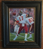 "Doug Williams Signed Redskins Limited Edition 18"" x 24"" Custom Framed Giclee on Canvas Inscribed ""XXII SB MVP"" #1/117 (Radtke COA)"
