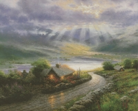 "Thomas Kinkade ""Emerald Isle Cottage"" 7"" x 9"" Fine Art Print"