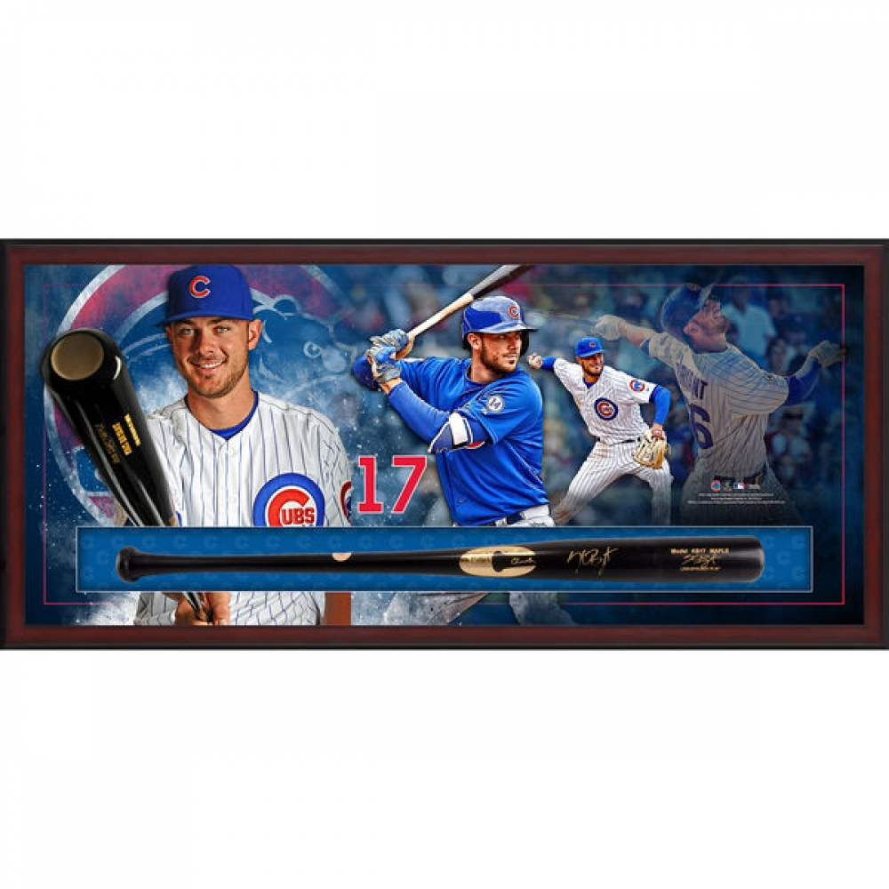 "Kris Bryant Signed 49.5"" x 23.5"" x 3.5"" Custom Framed Baseball Bat Shadow Box Display (MLB) at PristineAuction.com"