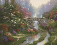 "Thomas Kinkade ""Stillwater Bridge"" 8"" x 10"" Fine Art Print"