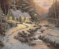 "Thomas Kinkade ""Evening Glow"" 8"" x 9.5"" Fine Art Print"