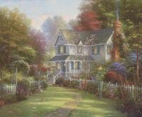"Thomas Kinkade ""Victorian Garden II"" 8"" x 9.5"" Fine Art Print"