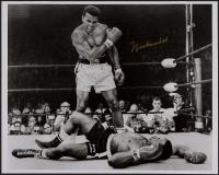 "Muhammad Ali Signed ""Standing Over Sonny Liston"" 16x20 Photo (JSA ALOA)"