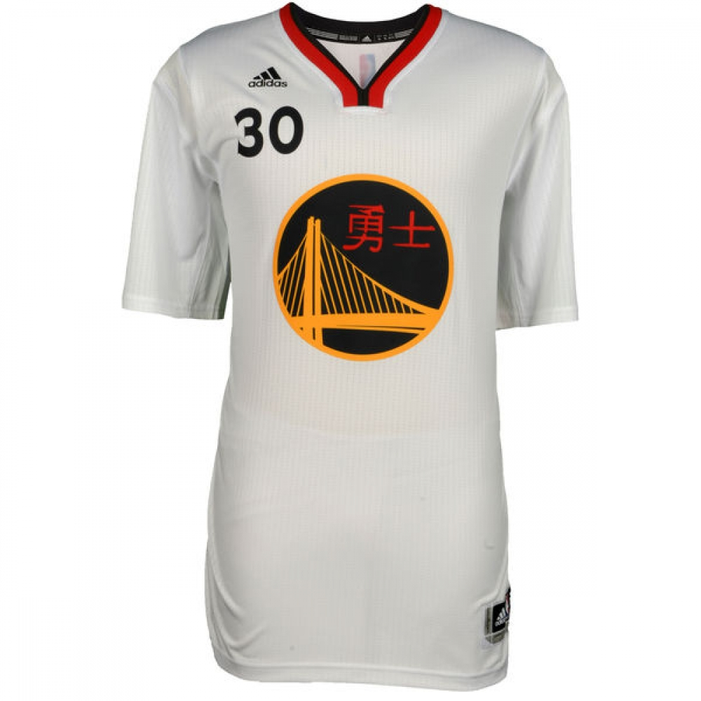 3480f76bc5f6 Stephen Curry Signed Warriors Chinese New Year Adidas Swingman Jersey  (Fanatics) at PristineAuction.