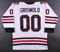 """Chevy Chase Signed """"Griswold"""" Blackhawks Jersey (PSA COA)"""