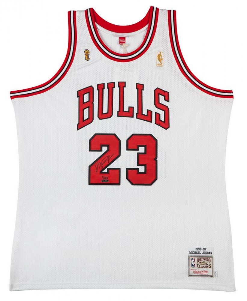753a9789a Michael Jordan Signed Limited Edition Bulls 1997 NBA Finals Authentic  Mitchell   Ness Jersey  1