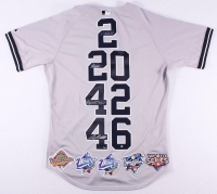 """Derek Jeter, Mariano Rivera, Andy Pettitte & Jorge Posada Signed Limited Edition  Yankees """"Core Four"""" Authentic Majestic Jersey #27/27 (Steiner COA)"""